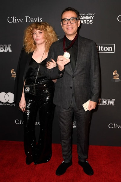 BEVERLY HILLS, CA - FEBRUARY 09:  Natasha Lyonne and Fred Armisen attend the Pre-GRAMMY Gala and GRAMMY Salute to Industry Icons Honoring Clarence Avant at The Beverly Hilton Hotel on February 9, 2019 in Beverly Hills, California.  (Photo by Frazer Harrison/Getty Images for NARAS)