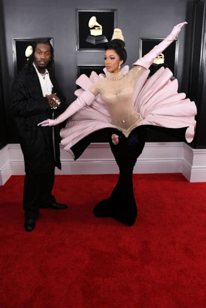 LOS ANGELES, CALIFORNIA - FEBRUARY 10: Offset (L) and Cardi B attend the 61st Annual GRAMMY Awards at Staples Center on February 10, 2019 in Los Angeles, California. (Photo by Jon Kopaloff/Getty Images)