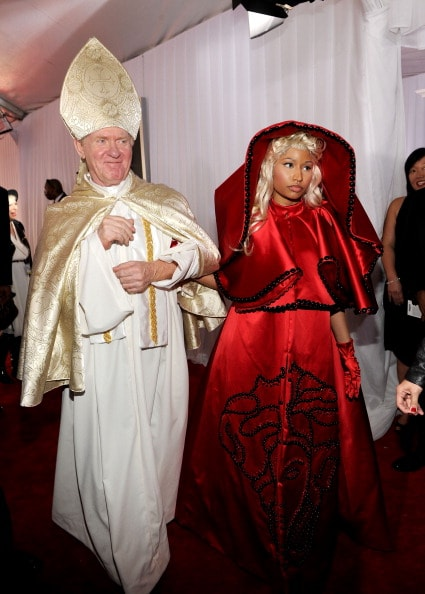 LOS ANGELES, CA - FEBRUARY 12:  Rapper Nicki Minaj arrives at the 54th Annual GRAMMY Awards held at Staples Center on February 12, 2012 in Los Angeles, California.  (Photo by Larry Busacca/Getty Images For The Recording Academy)