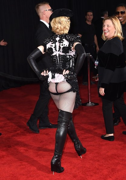 LOS ANGELES, CA - FEBRUARY 08:  Singer Madonna attends The 57th Annual GRAMMY Awards at the STAPLES Center on February 8, 2015 in Los Angeles, California.  (Photo by Jason Merritt/Getty Images)