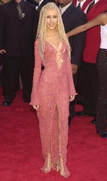385803 56: Pop diva Christina Aguilera arrives at the 43rd Annual Grammy Awards February 21, 2001 at the Staples Center in Los Angeles, CA. (Photo by Chris Weeks/Liaison)