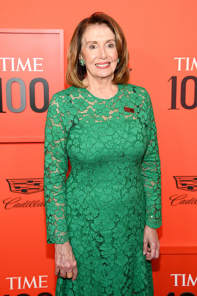 NEW YORK, NEW YORK - APRIL 23: Nancy Pelosi attends the TIME 100 Gala Red Carpet at Jazz at Lincoln Center on April 23, 2019 in New York City. (Photo by Dimitrios Kambouris/Getty Images for TIME)
