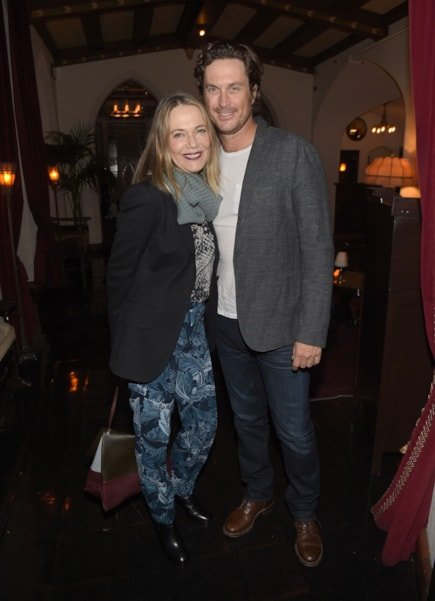 LOS ANGELES, CA - DECEMBER 08:  Peggy Lipton and Oliver Hudson attend the Equipment and Vanity Fair Dinner hosted by Rashida Jones and Krista Smith at Chateau Marmont on December 8, 2015 in Los Angeles, California.  (Photo by Jason Kempin/Getty Images for Vanity Fair)