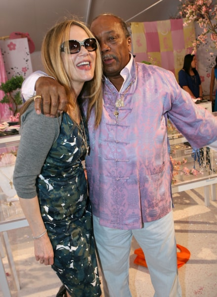 LOS ANGELES, CA - MAY 31:  Actress Peggy Lipton (L) and producer Quincy Jones attend the Kidada Jones Disney Couture party at Quincy Jones' house on May 31, 2007 in Los Angeles, California.  (Photo by Michael Buckner/Getty Images)