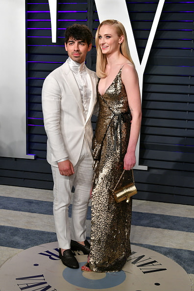 Sophie Turner and Joe Jonas at the Oscar's Vanity Fair after-party.